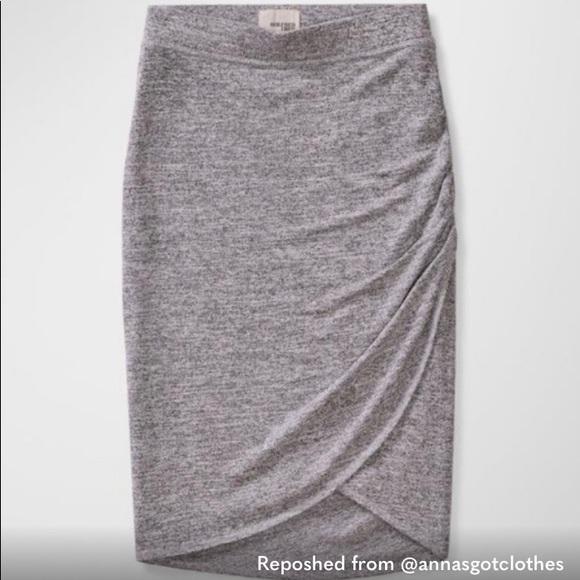 2/$35 • wrap 'tyra skirt' in heather gray